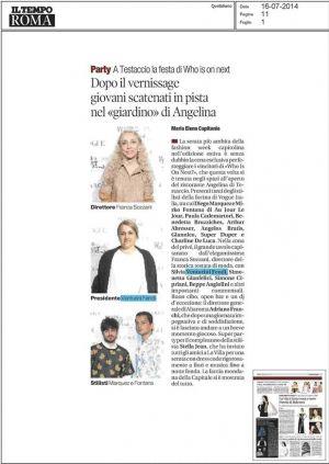 Il Tempo 16 luglio 2014
